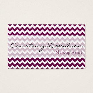 Sangria Purple Chevron Business Cards