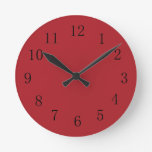 Sangria Red Kitchen Wall Clock at Zazzle