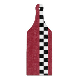 sangria striped checkers cutting board