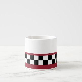 sangria striped checkers espresso cup
