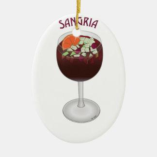 SANGRIA WINE DESIGN CERAMIC ORNAMENT
