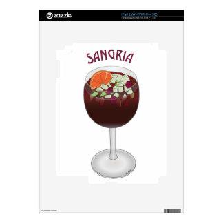 SANGRIA WINE DESIGN DECALS FOR iPad 2