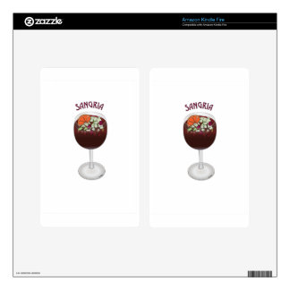 SANGRIA WINE DESIGN DECALS FOR KINDLE FIRE