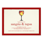 "Sangria with Fruit Tapas Party Invitation 5"" X 7"" Invitation Card"