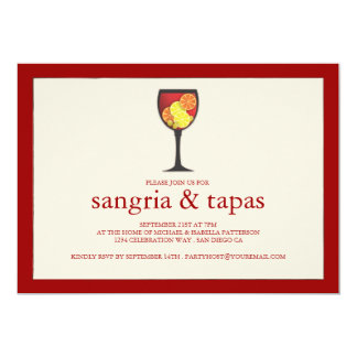 Sangria with Fruit Tapas Party Invitation