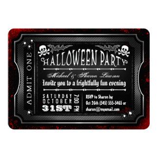 """Sangrientos negros y blancos de Halloween admiten Invitación 5"""" X 7"""""""
