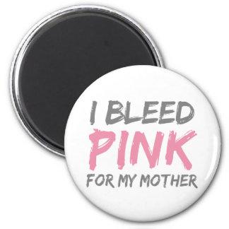 Sangro a la madre rosada del cáncer de pecho imán redondo 5 cm
