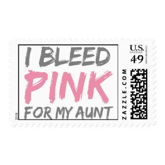 Sangro a la tía rosada del cáncer de pecho sellos