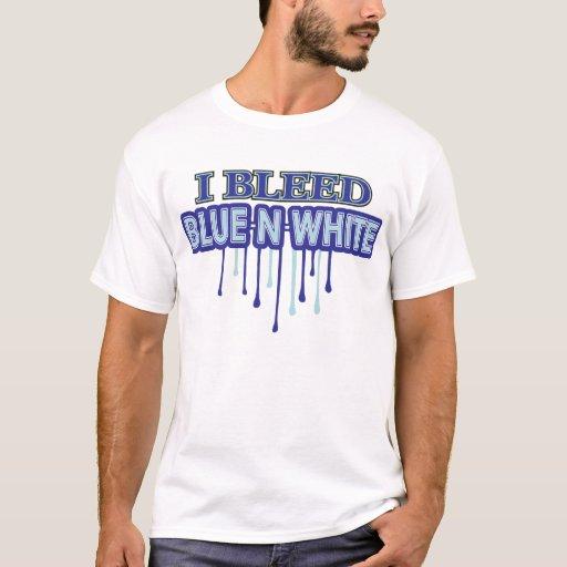 Sangro blanco azul de N Playera