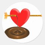 Sangro el chocolate .com pegatina redonda