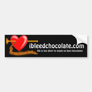 Sangro el chocolate pegatina para auto