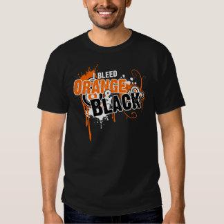 Sangro el naranja y el negro playeras