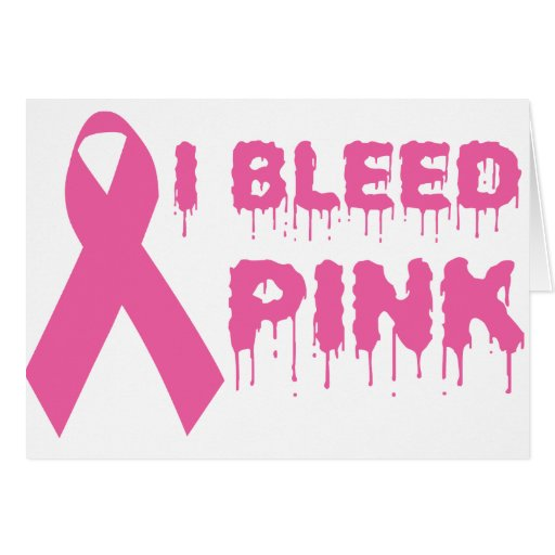 Sangro el rosa - cinta de la conciencia del cáncer tarjeta de felicitación