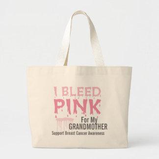 Sangro el rosa para mi cáncer de pecho de la abuel bolsa tela grande