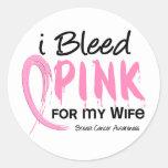 Sangro el rosa para mi cáncer de pecho de la espos etiquetas