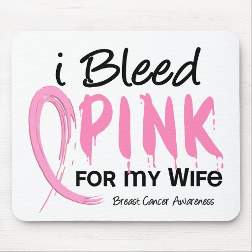 Sangro el rosa para mi cáncer de pecho de la espos alfombrilla de raton