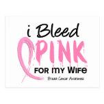 Sangro el rosa para mi cáncer de pecho de la espos postales