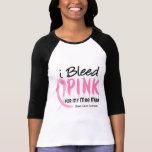 Sangro el rosa para mi cáncer de pecho del estómag camiseta