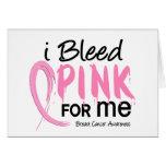 Sangro el rosa para MÍ cáncer de pecho Tarjeton