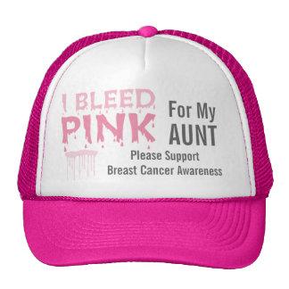 Sangro el rosa para mi conciencia del cáncer de la gorra