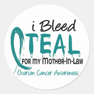 Sangro el trullo para mi cáncer ovárico de la pegatinas redondas