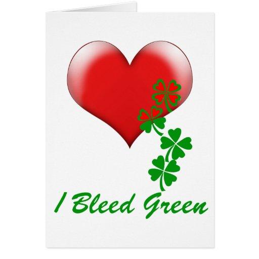 Sangro el verde (1) tarjeta de felicitación