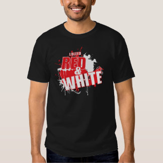 Sangro Grunge rojo y blanco Playera