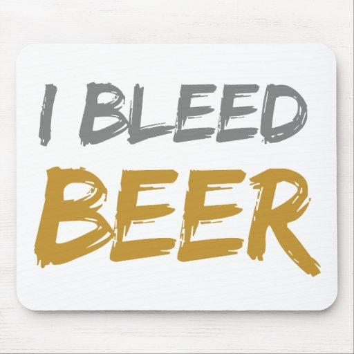 Sangro la cerveza alfombrillas de raton