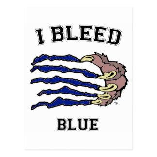Sangro la garra azul tarjeta postal