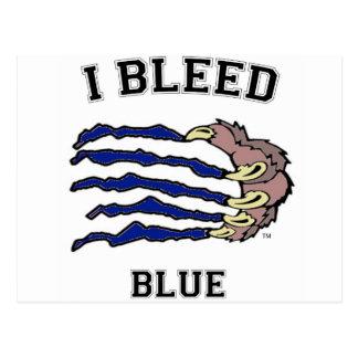 Sangro la garra azul postales