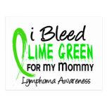 Sangro la verde lima para mi linfoma de la mamá postales