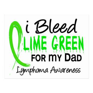 Sangro la verde lima para mi linfoma del papá postal