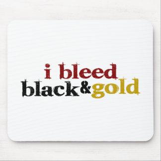 Sangro negro y el oro alfombrilla de raton