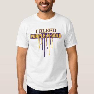 Sangro púrpura y el oro remeras