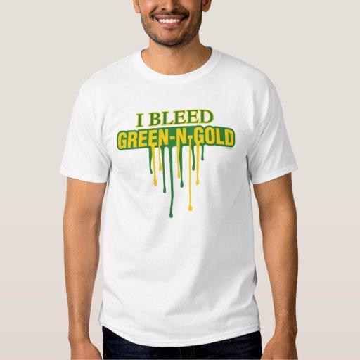 Sangro verde y el oro polera