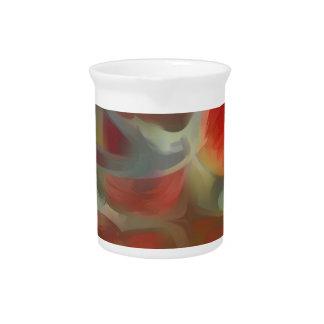 Sanguine Pastel Abstract Beverage Pitcher