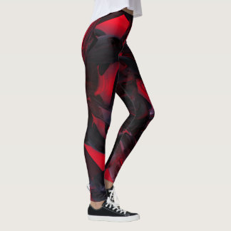 Sanguine Rose leggings red, black