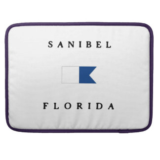 Sanibel Florida Alpha Dive Flag Sleeve For MacBook Pro