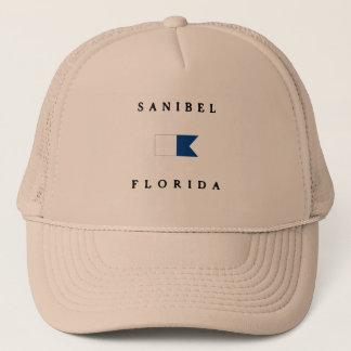 Sanibel Florida Alpha Dive Flag Trucker Hat
