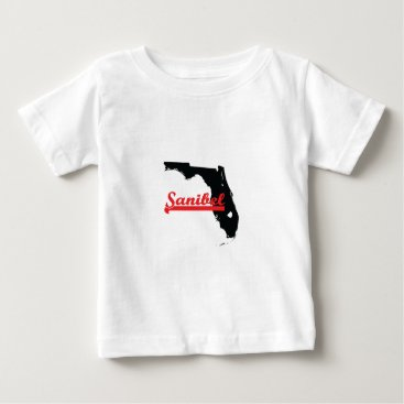 Beach Themed Sanibel Florida. Baby T-Shirt