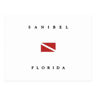 Sanibel Florida Scuba Dive Flag Postcard