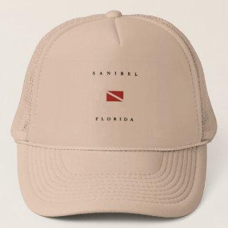 Sanibel Florida Scuba Dive Flag Trucker Hat
