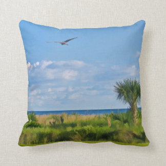 Sanibel Island Beach Throw Pillow