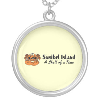 Sanibel Island Crab Silver Plated Necklace