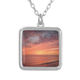 Sanibel Island Fl Silver Plated Necklace