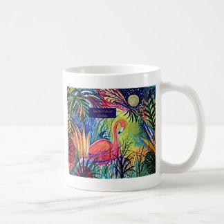 Sanibel Island Flamingo Art Coffee Mug
