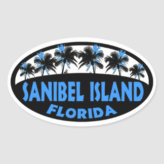 Sanibel Island Florida blue palms Stickers