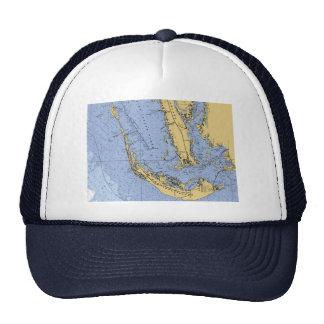 Sanibel Island Florida Nautical Chart hat