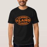 Sanibel Island Florida orange oval T-Shirt