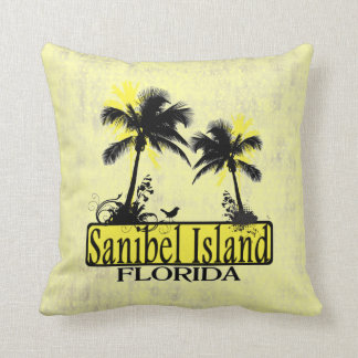 Sanibel Island Florida palm tree decorative pillow